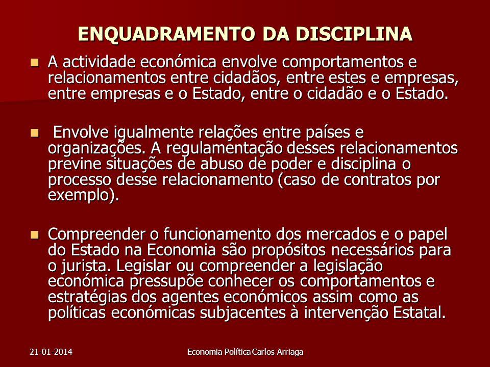 ENQUADRAMENTO DA DISCIPLINA