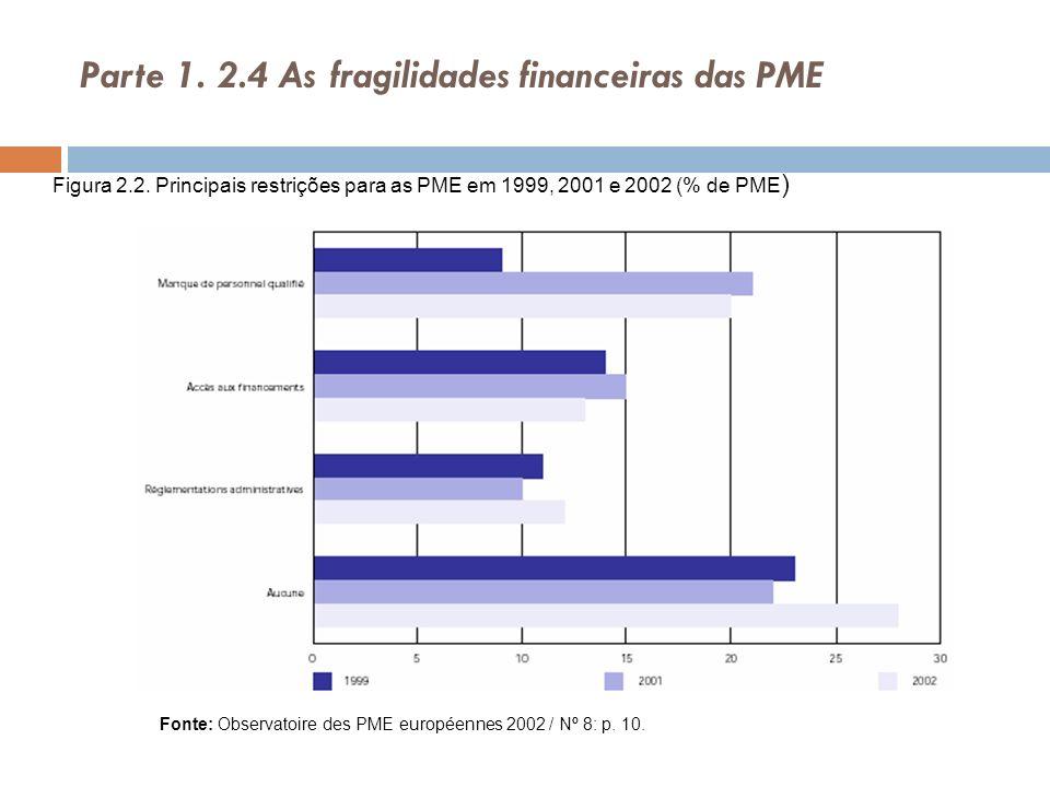 Parte 1. 2.4 As fragilidades financeiras das PME