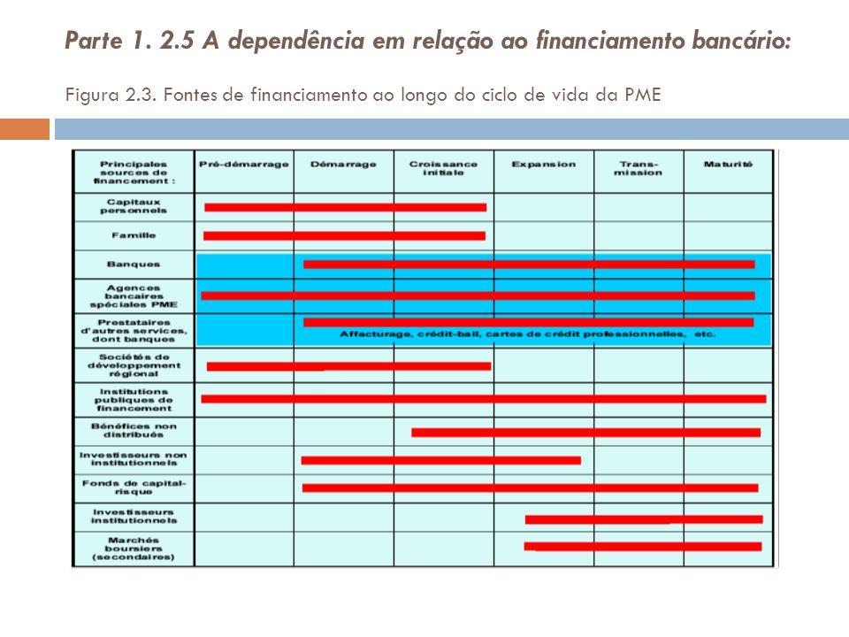Parte 1. 2.5 A dependência em relação ao financiamento bancário: Figura 2.3.