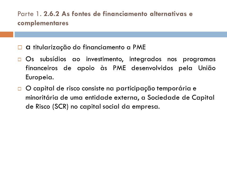 a titularização do financiamento a PME