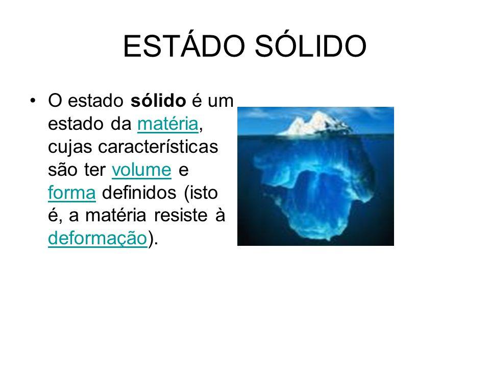 ESTÁDO SÓLIDO