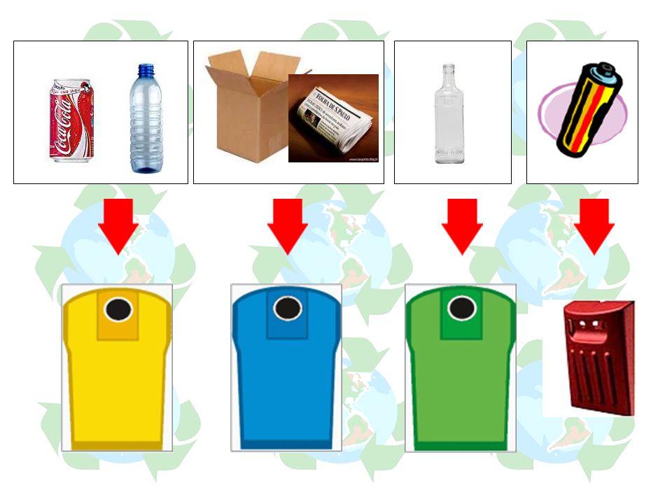 Plástico e Metal Papel e Cartão Vidro Pilhas