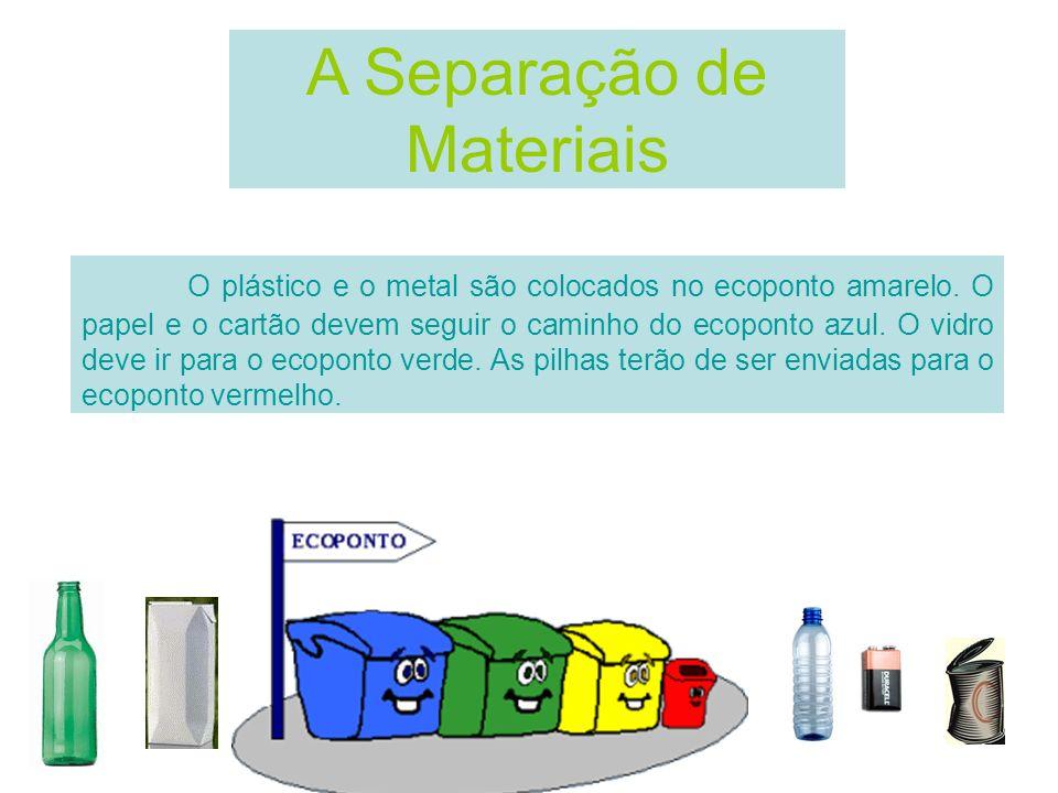 A Separação de Materiais