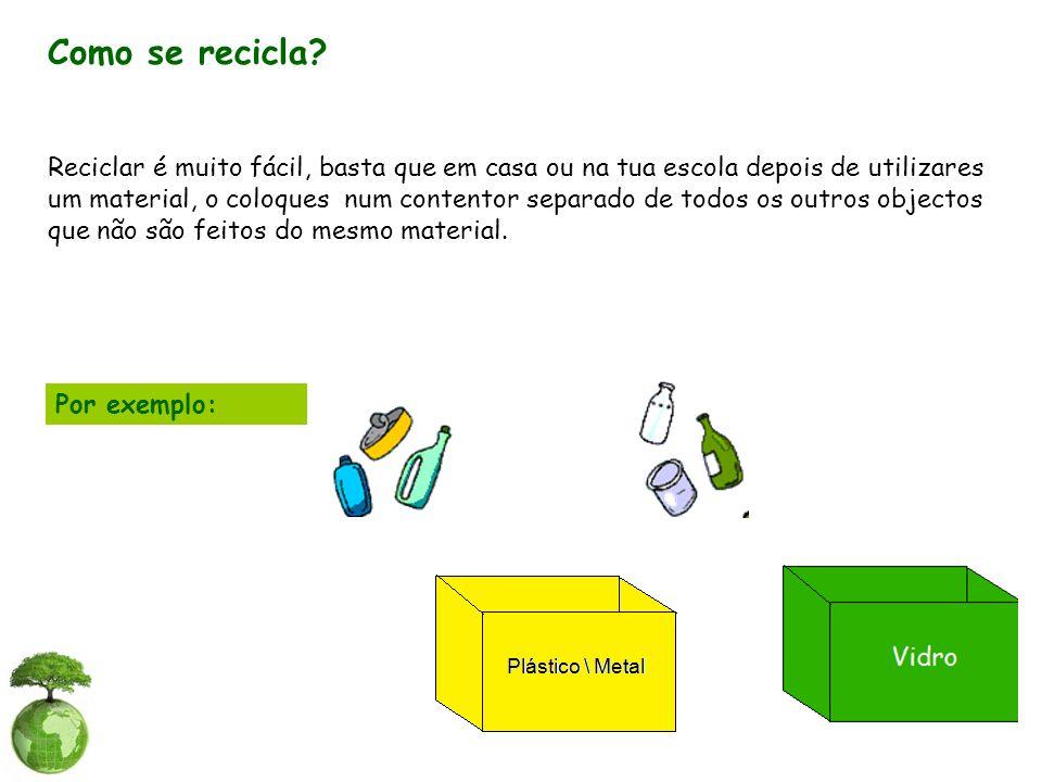 Como se recicla
