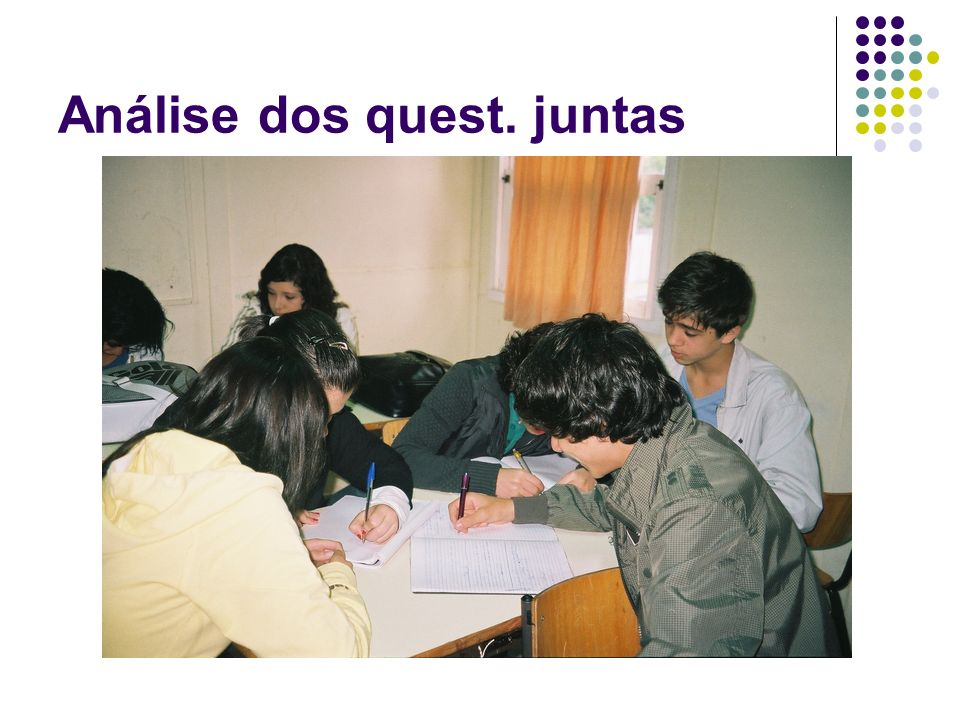 Análise dos quest. juntas