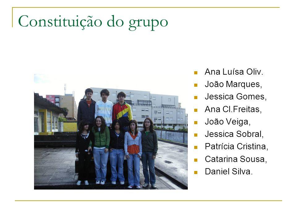Constituição do grupo Ana Luísa Oliv. João Marques, Jessica Gomes,