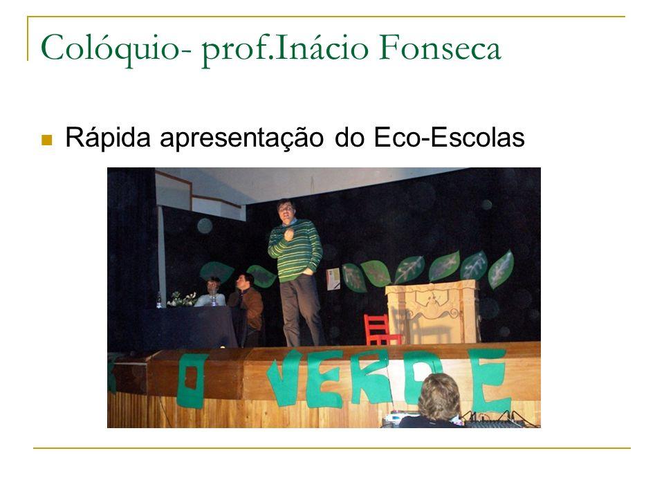 Colóquio- prof.Inácio Fonseca