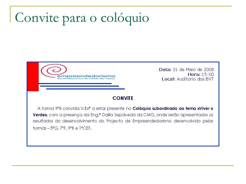 Convite para o colóquio