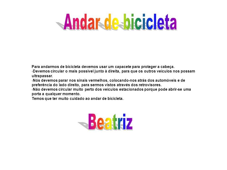 Andar de bicicleta Beatriz