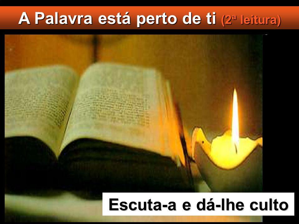 A Palavra está perto de ti (2ª leitura) Escuta-a e dá-lhe culto