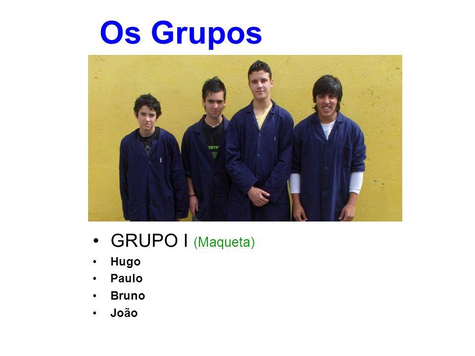 Os Grupos GRUPO I (Maqueta) Hugo Paulo Bruno João