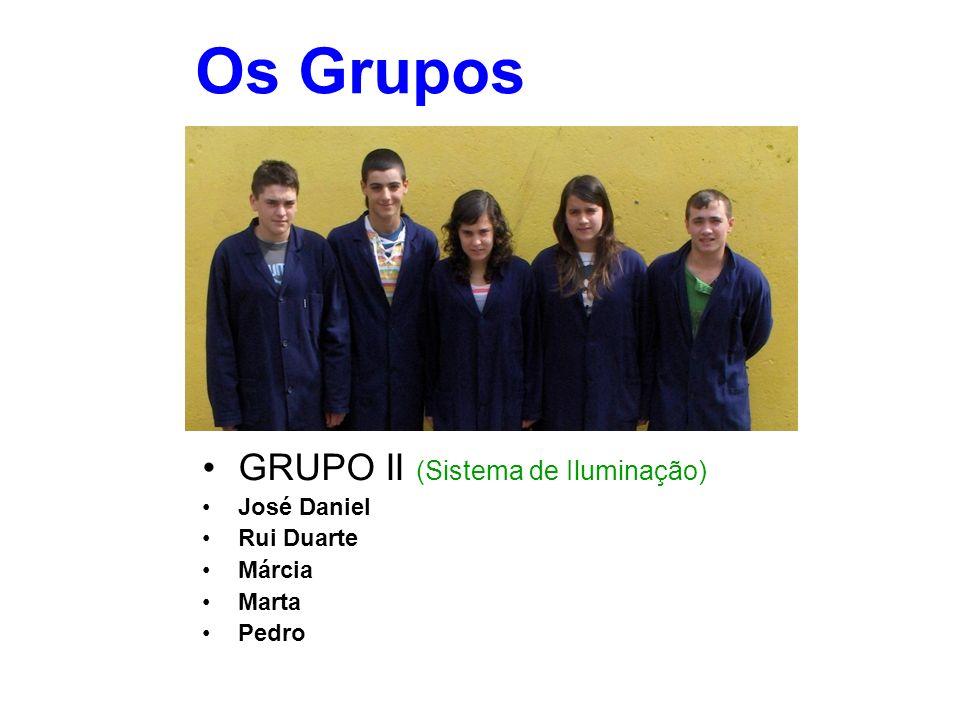 Os Grupos GRUPO II (Sistema de Iluminação) José Daniel Rui Duarte