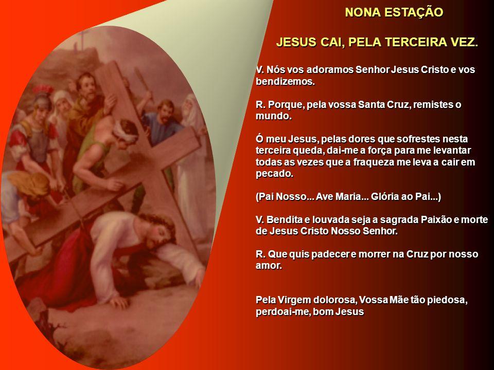 JESUS CAI, PELA TERCEIRA VEZ.