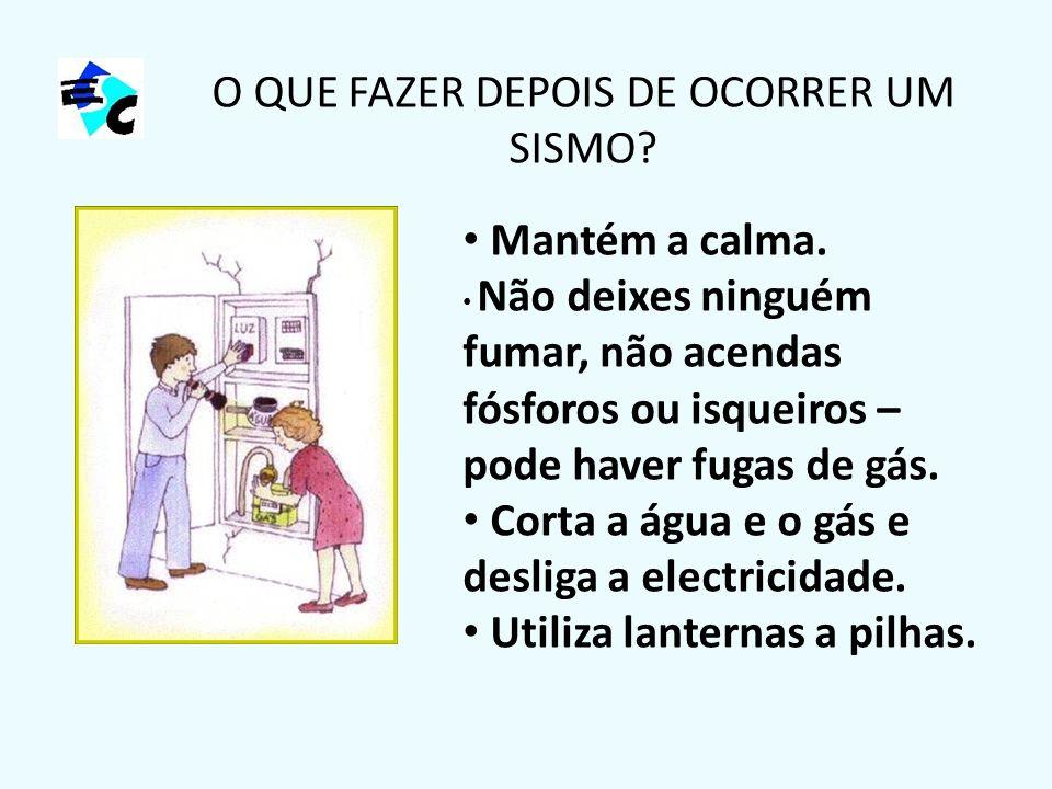 O QUE FAZER DEPOIS DE OCORRER UM SISMO