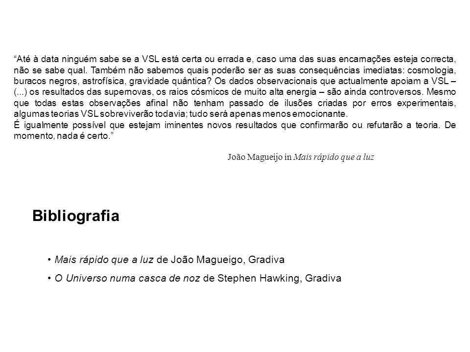 Bibliografia Mais rápido que a luz de João Magueigo, Gradiva