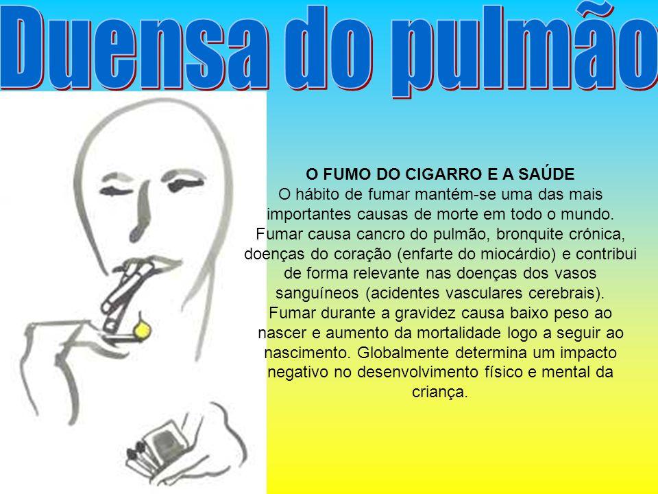 O FUMO DO CIGARRO E A SAÚDE