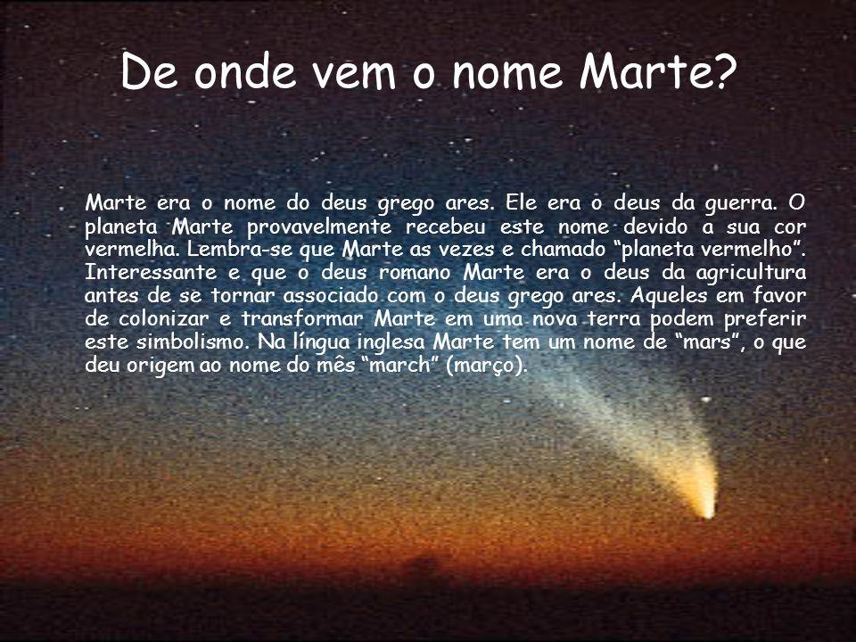 De onde vem o nome Marte