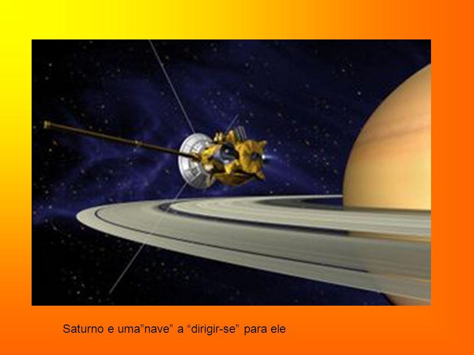 Saturno e uma nave a dirigir-se para ele