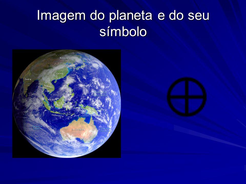 Imagem do planeta e do seu símbolo