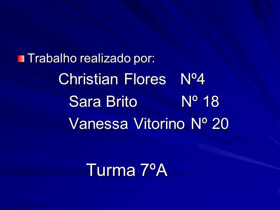 Sara Brito Nº 18 Vanessa Vitorino Nº 20 Trabalho realizado por: