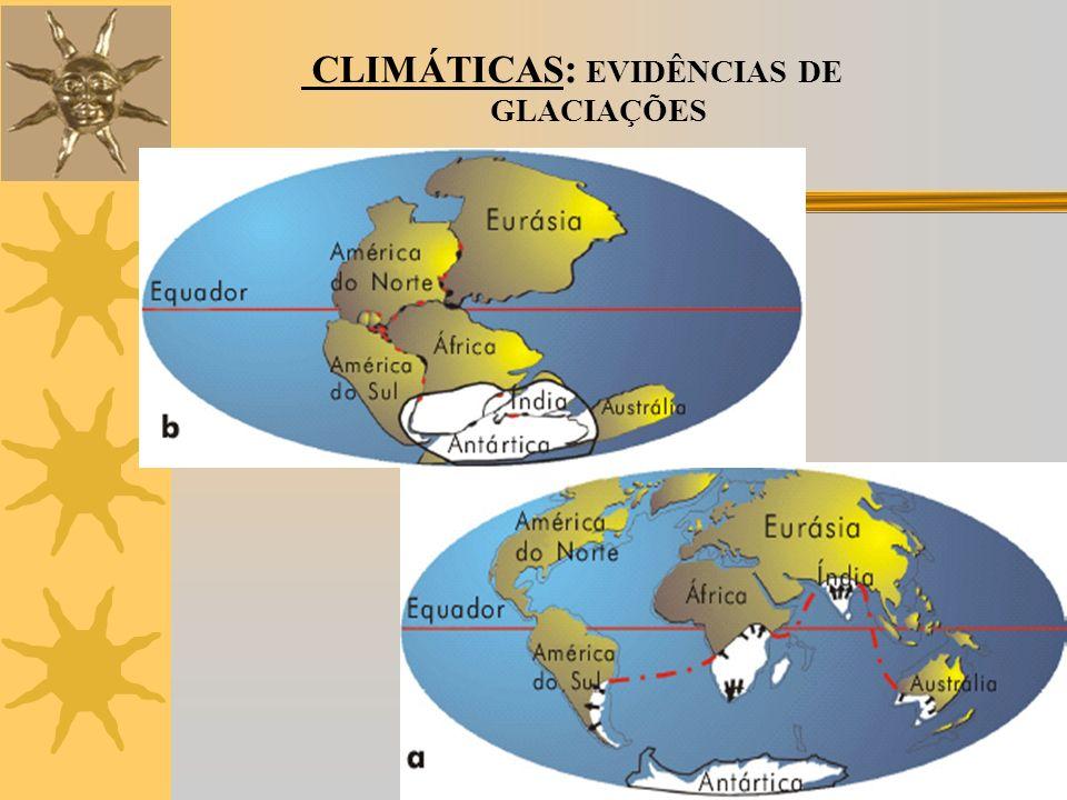 CLIMÁTICAS: EVIDÊNCIAS DE GLACIAÇÕES