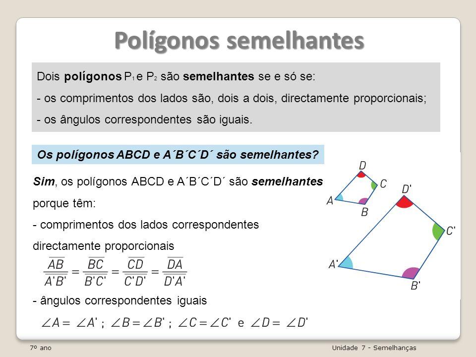 Polígonos semelhantes