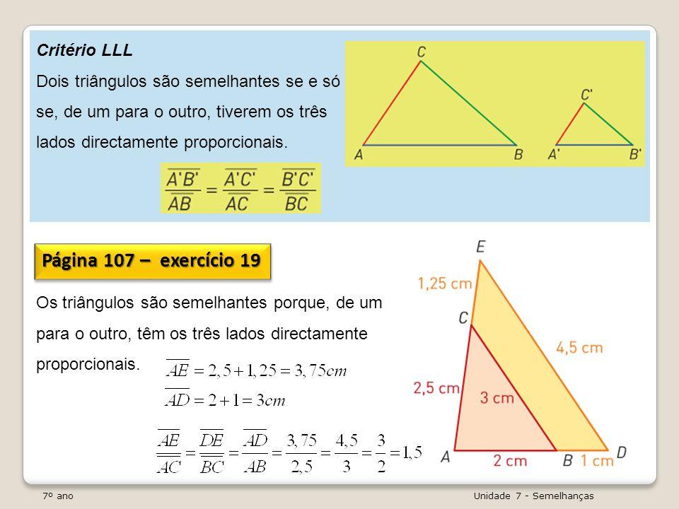 Página 107 – exercício 19 Critério LLL