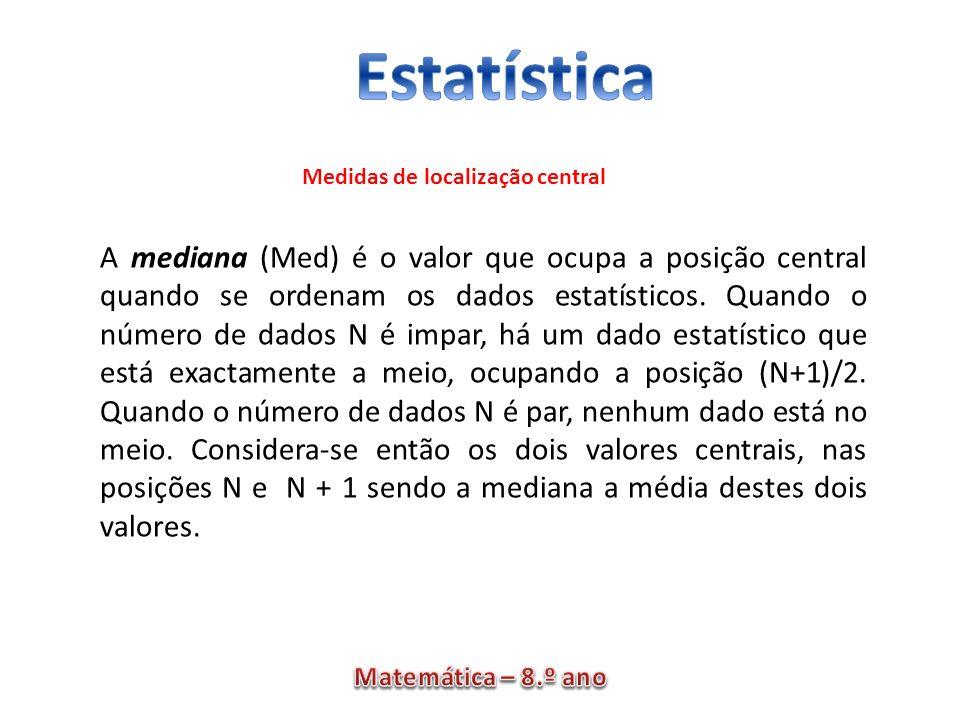 Medidas de localização central