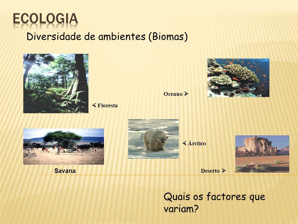 ecologia Diversidade de ambientes (Biomas)