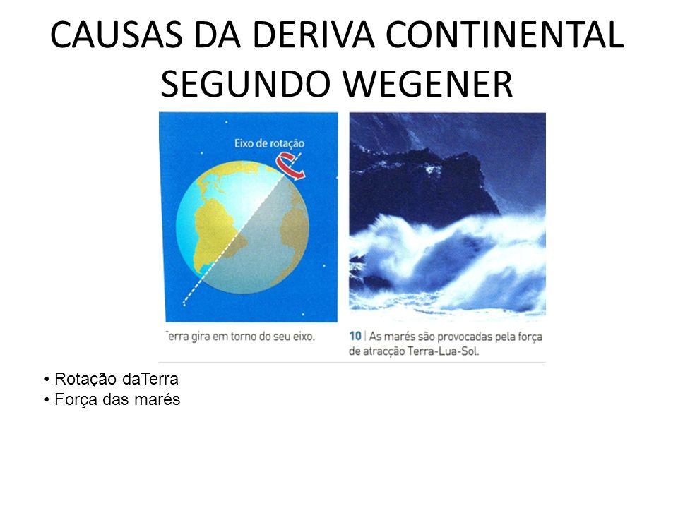 CAUSAS DA DERIVA CONTINENTAL SEGUNDO WEGENER