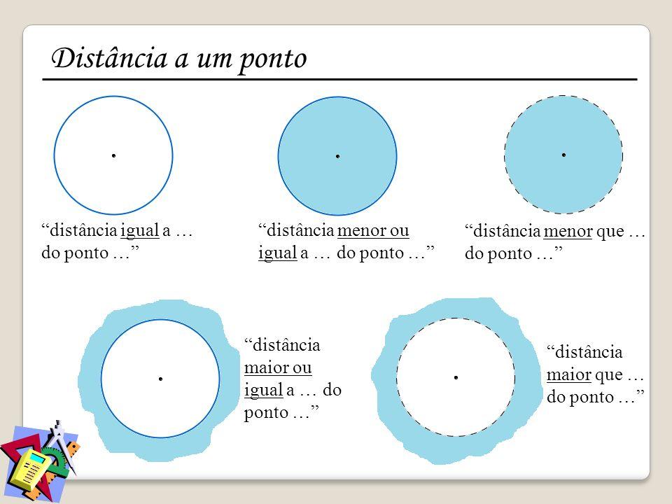Distância a um ponto distância igual a … do ponto …