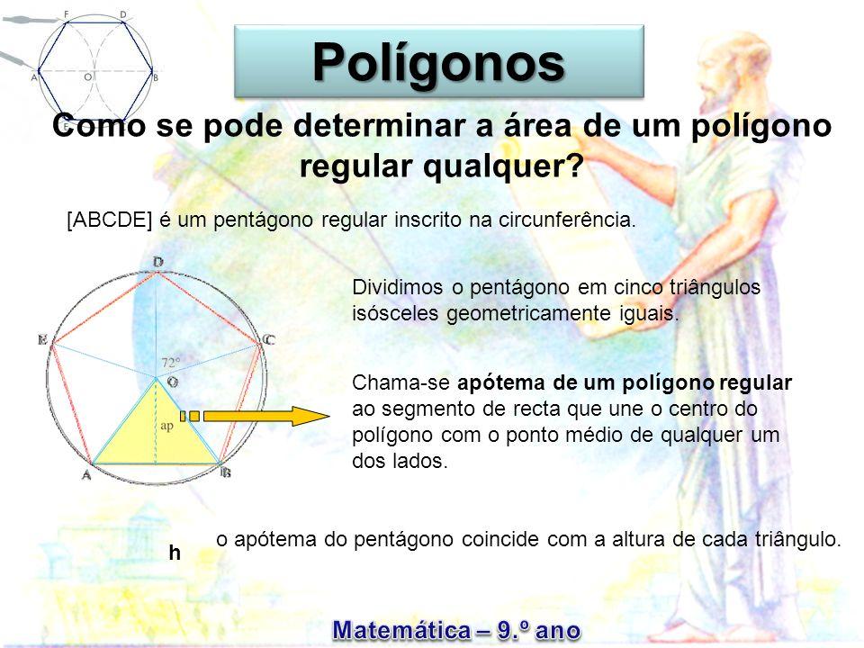 Como se pode determinar a área de um polígono regular qualquer