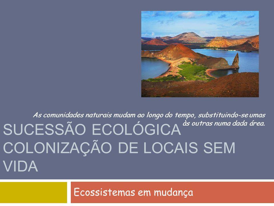 SUCESSÃO ECOLÓGICA COLONIZAÇÃO DE LOCAIS SEM VIDA