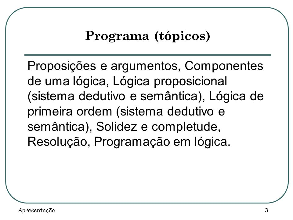 Programa (tópicos)