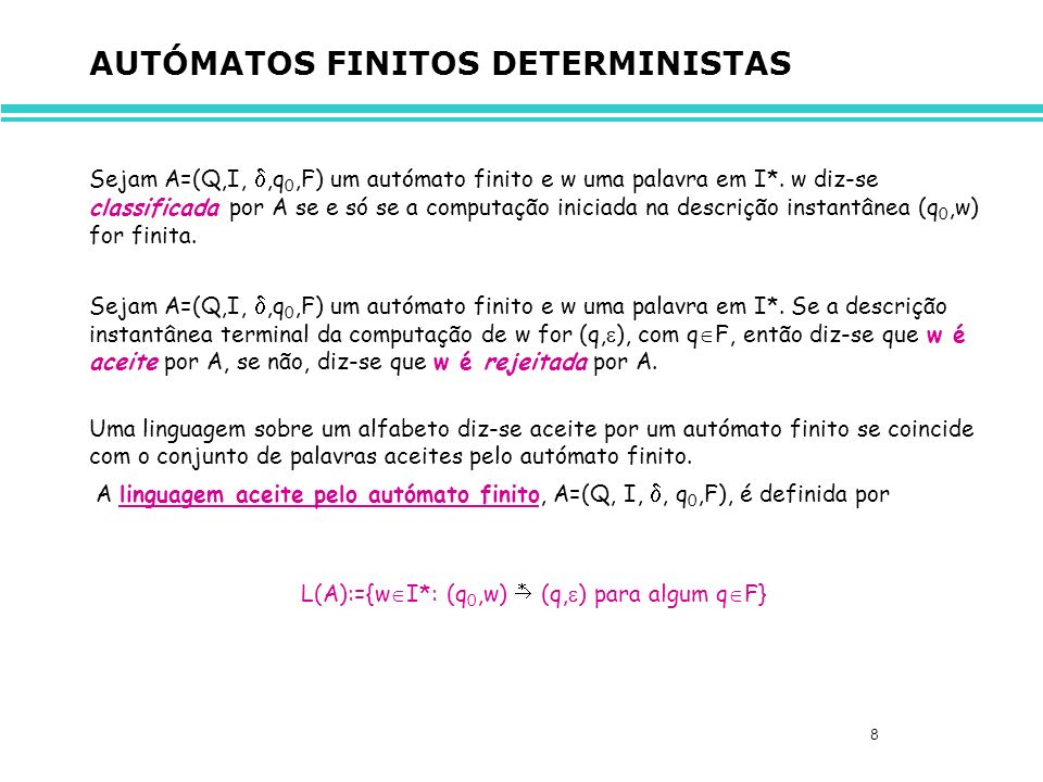 AUTÓMATOS FINITOS DETERMINISTAS