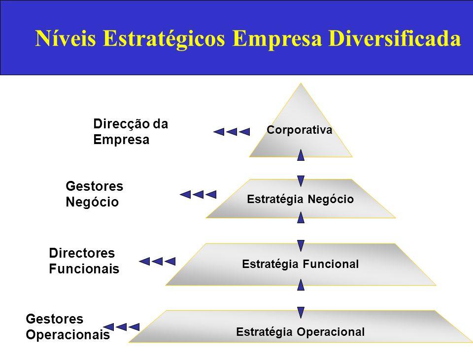 Níveis Estratégicos Empresa Diversificada Estratégia Operacional