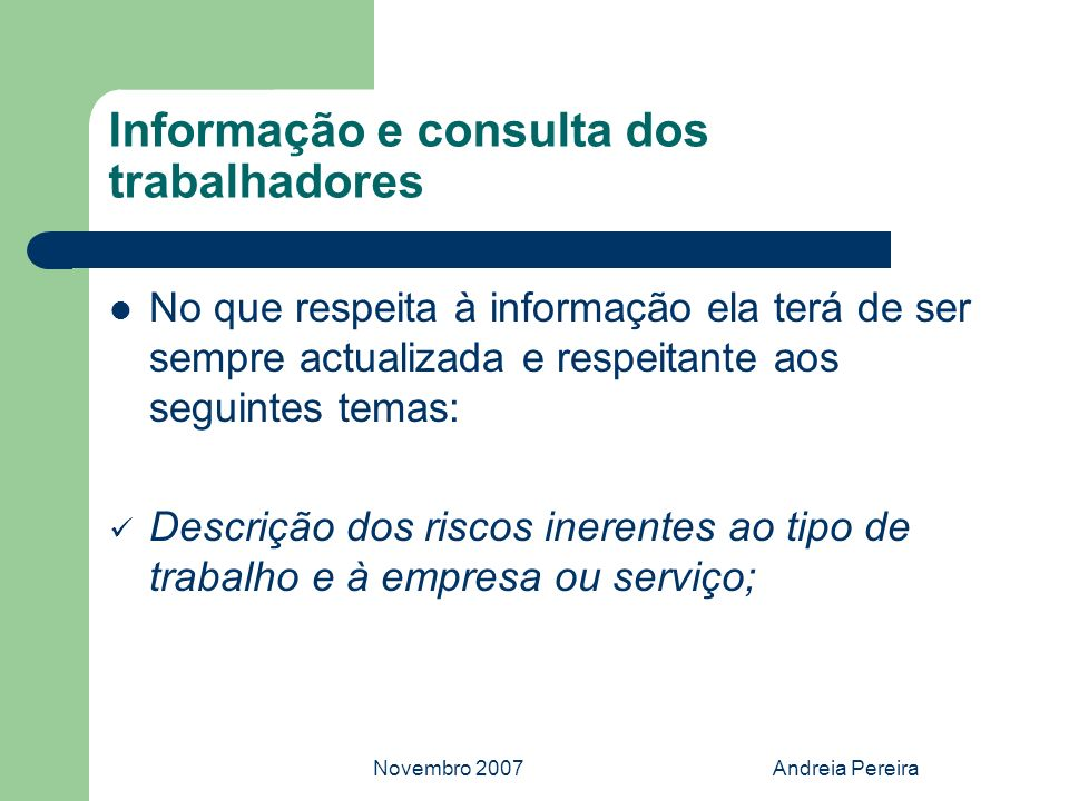 Informação e consulta dos trabalhadores