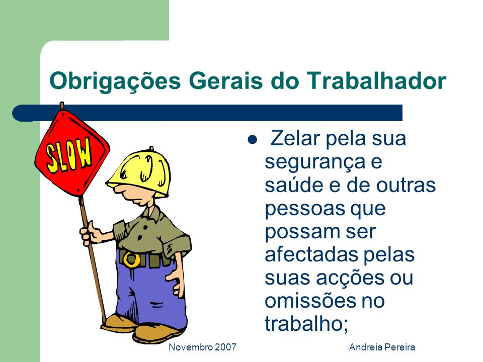 Obrigações Gerais do Trabalhador