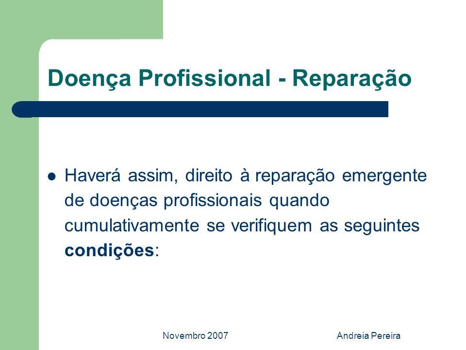 Doença Profissional - Reparação