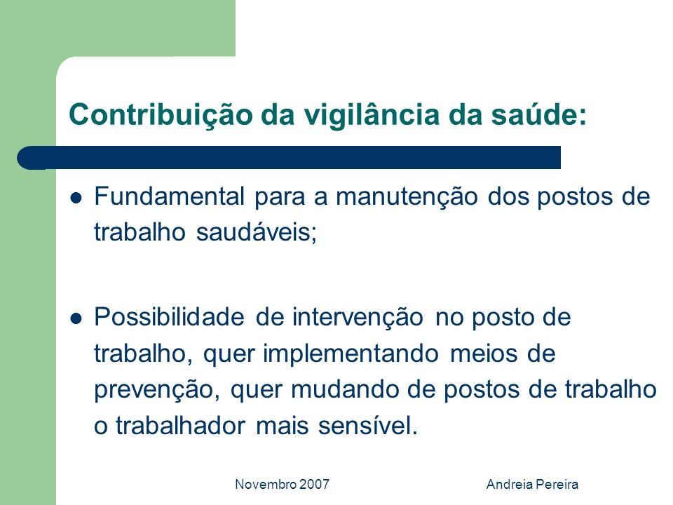 Contribuição da vigilância da saúde: