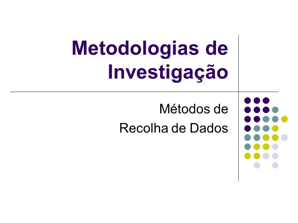 Metodologias de Investigação