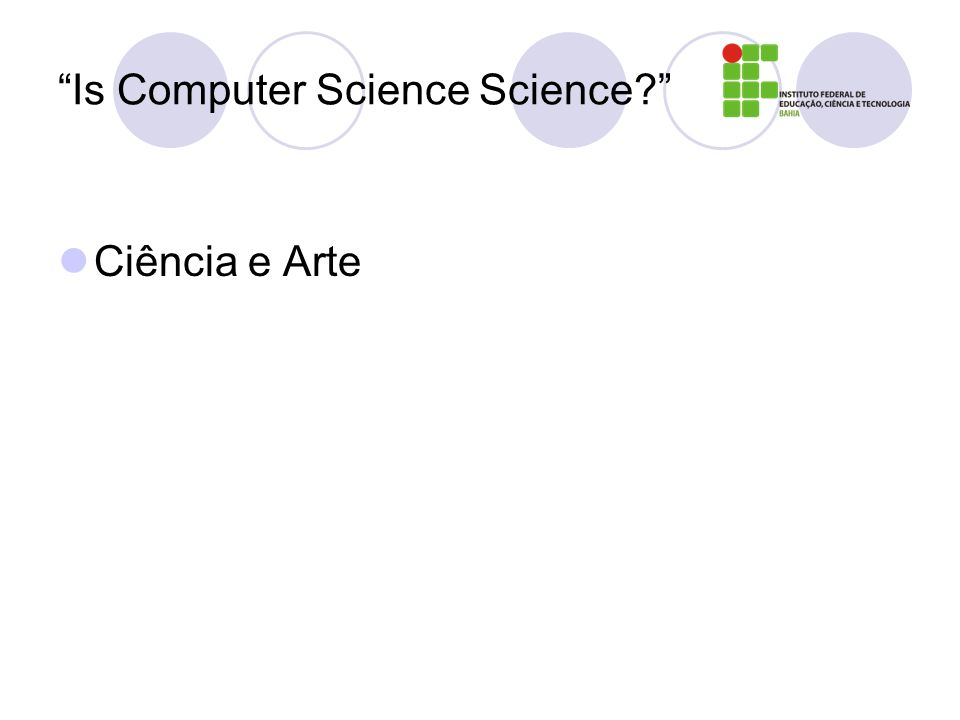 Is Computer Science Science