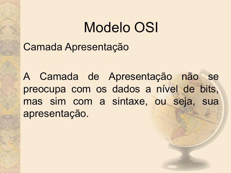 Modelo OSI Camada Apresentação