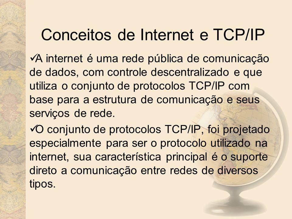 Conceitos de Internet e TCP/IP