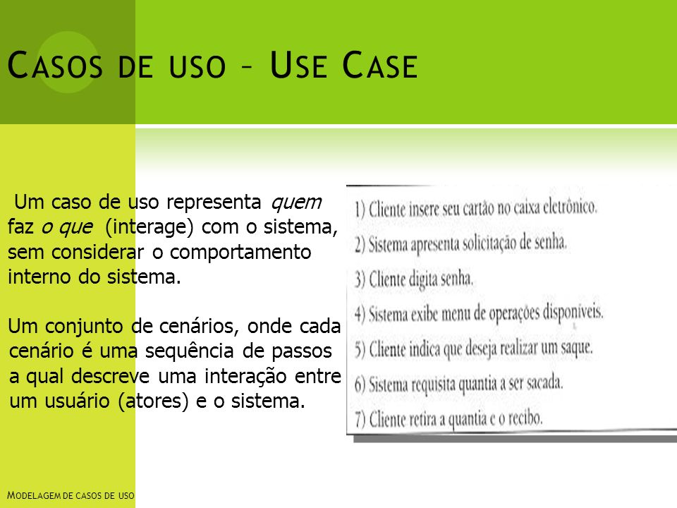 Casos de uso – Use Case