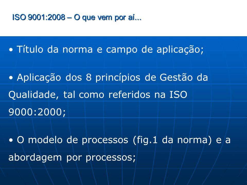• Título da norma e campo de aplicação;