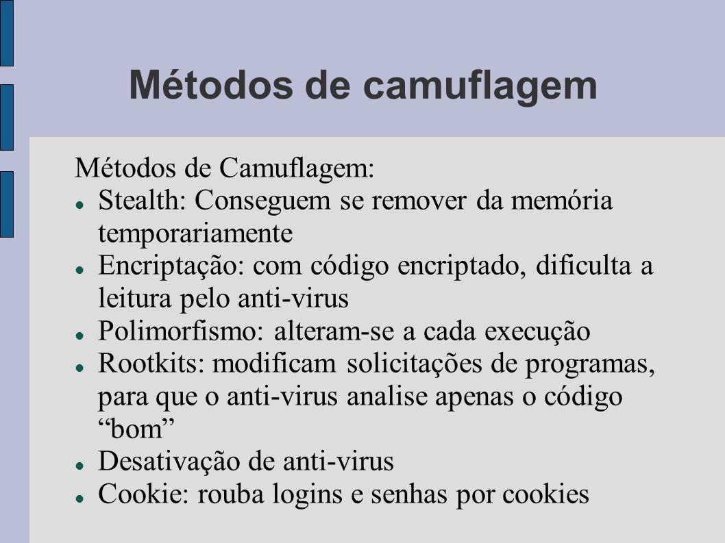 Métodos de camuflagem Métodos de Camuflagem: