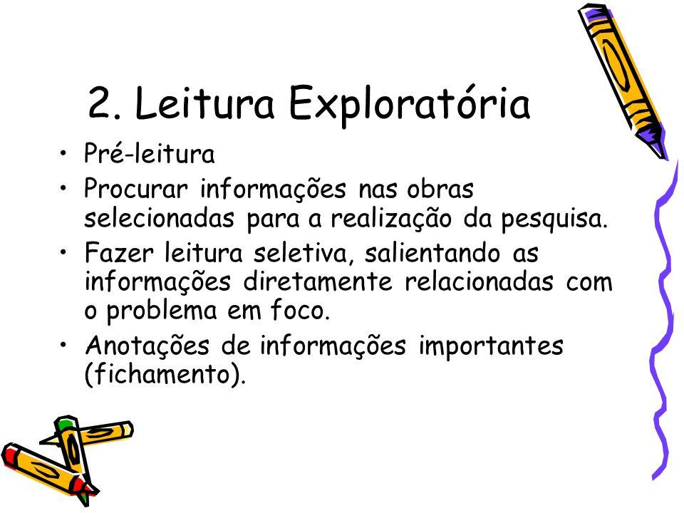 2. Leitura Exploratória Pré-leitura