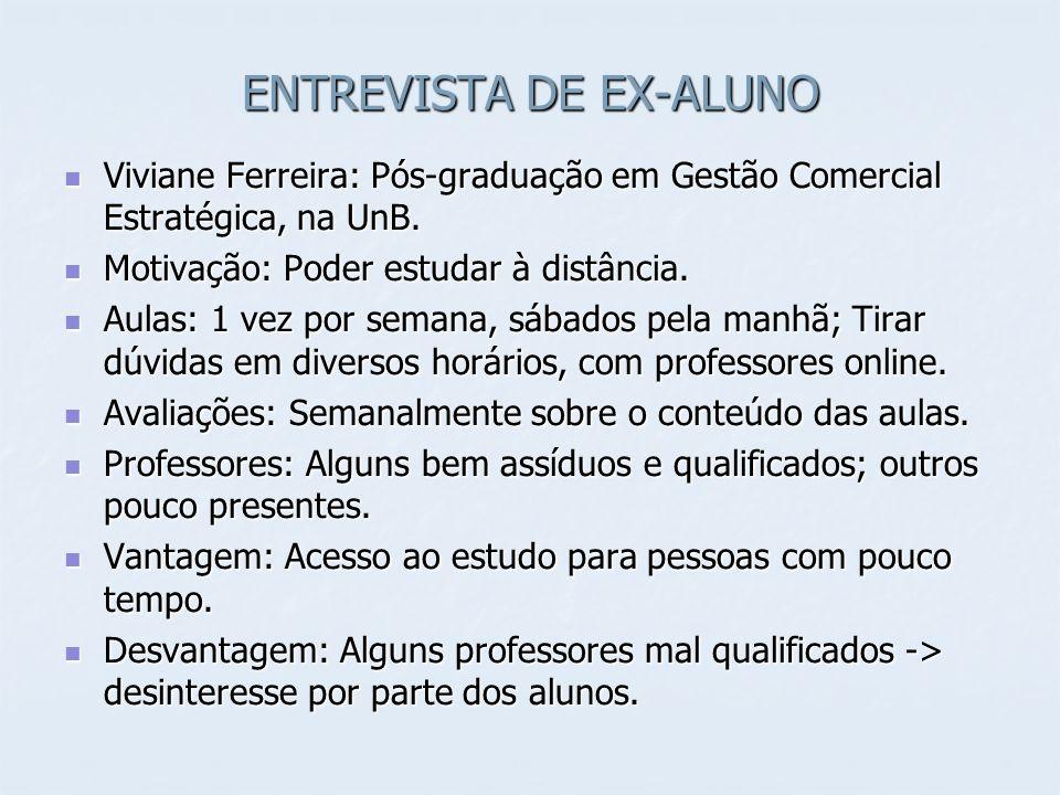 ENTREVISTA DE EX-ALUNO