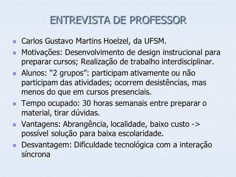 ENTREVISTA DE PROFESSOR